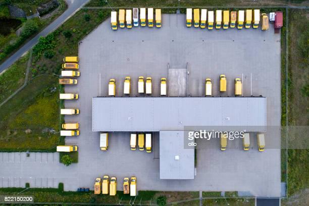 Distribution logistics building parking lot