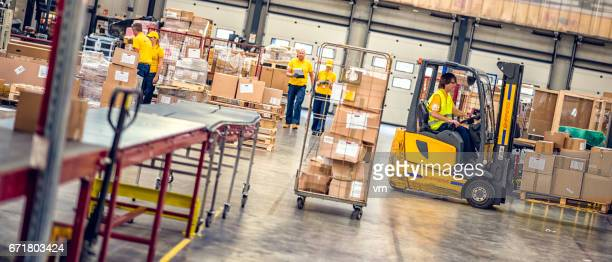 Distribution warehouse employees