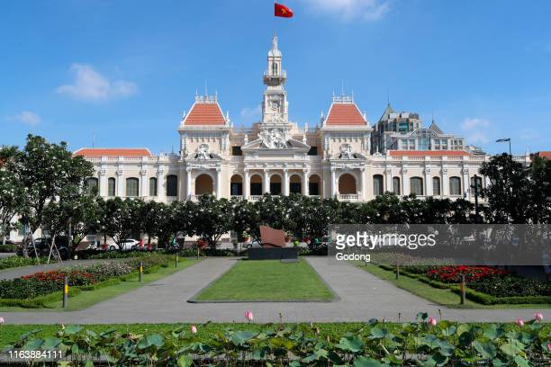 District 1 Ho Chi Minh city town hall and garden Colonial French construction Ho Chi Minh City Vietnam