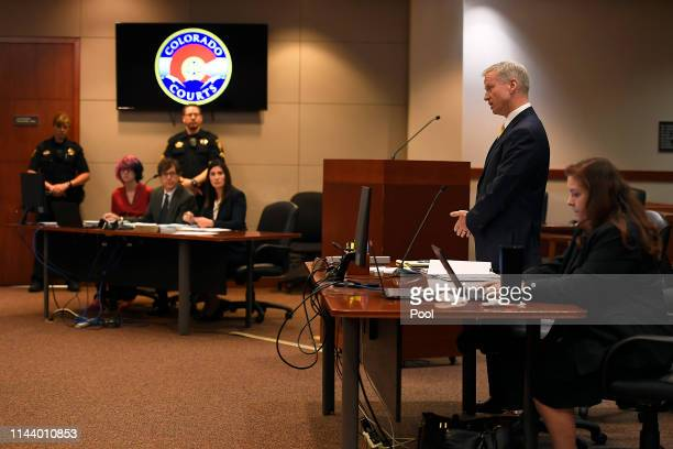 District Attorney George Brauchler addresses the court as STEM School Highlands Ranch shooting suspect 18 year old Devon Erickson facing 48 criminal...