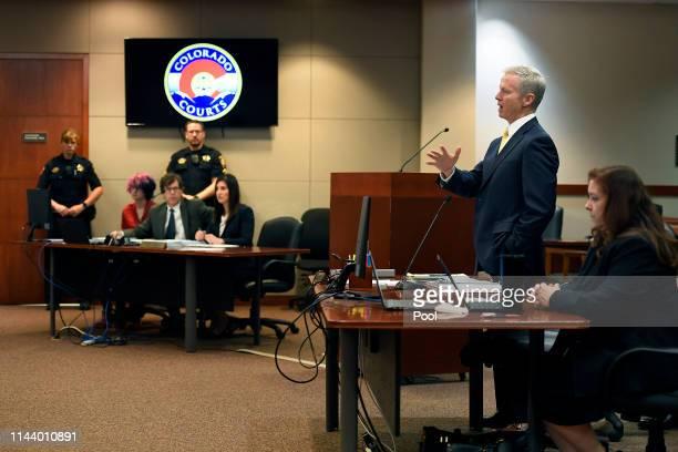 District Attorney George Brauchler addresses the court as STEM School Highlands Ranch shooting suspect 18 year old Devon Erickson, facing 48 criminal...