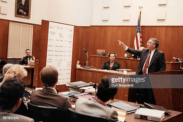 District attorney Michael McCann points to the list of victims in court Jeffrey Lionel Dahmer murdered 17 men and boys between 1978 and 1991 The...