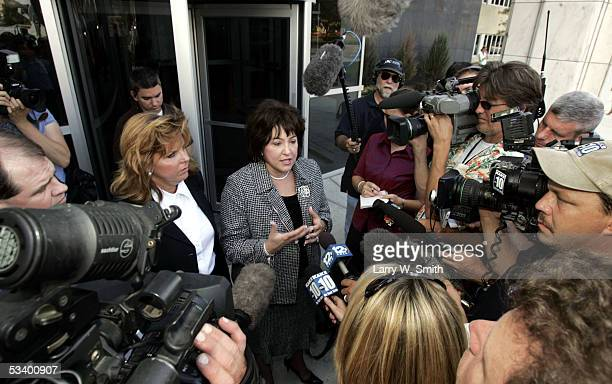District Attorney Nola Foulston speaks with media outside the Sedgwick County Courthouse on the first day of sentencing for Dennis L Rader the...