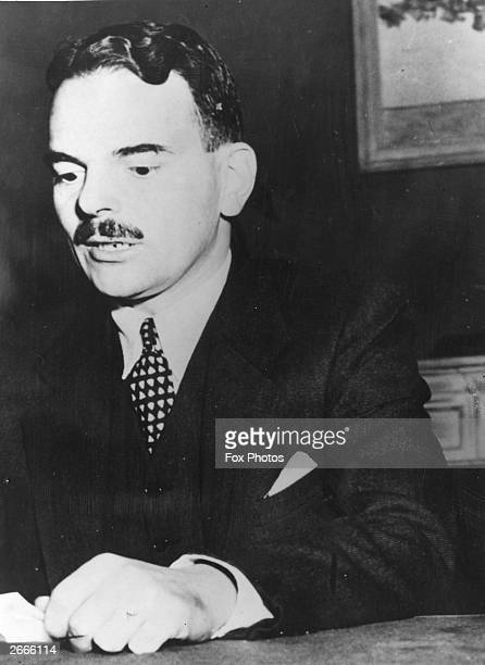 District Attorney Thomas E Dewey leader of the prosecution in the trial of James Hines a Democratic politician and leader of the Party's New York...
