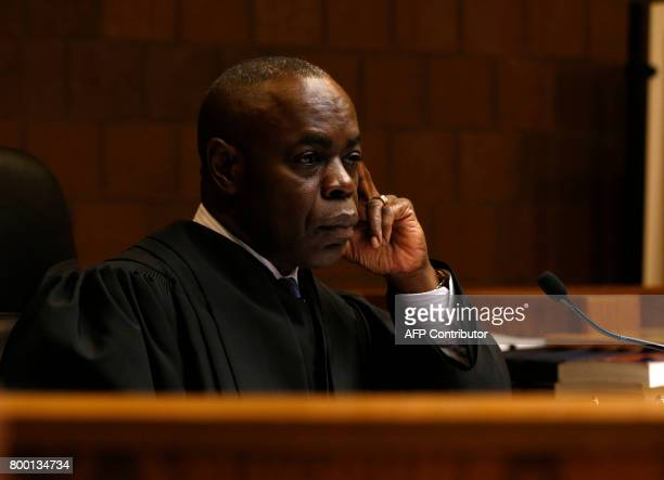 District Court Judge Donald Allen Jr listens during the preliminary exam for former Michigan State University and USA Gymnastics doctor Larry Nassar...