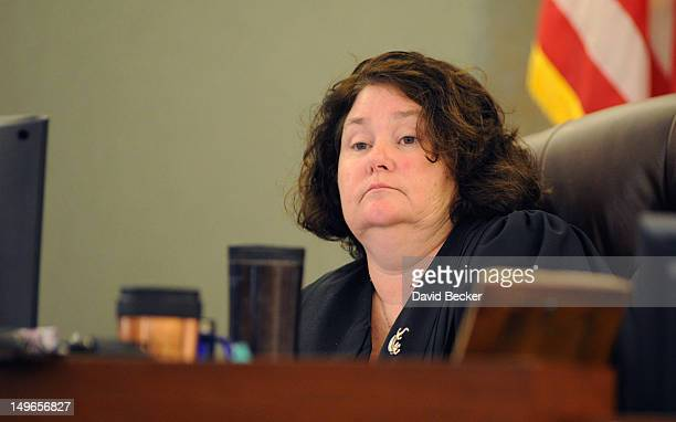 District Court Judge Elizabeth Gonzalez presides during a court hearing at the Clark County Regional Justice Center on August 1 2012 in Las Vegas...