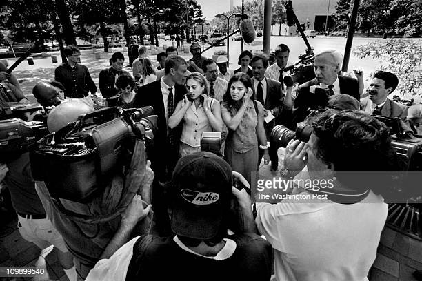S District Court Linda Tripp at Courthouse Media folks surround Linda Tripp s daughter Allison Tripp and her friend Bridget Tomarchio as they leave...