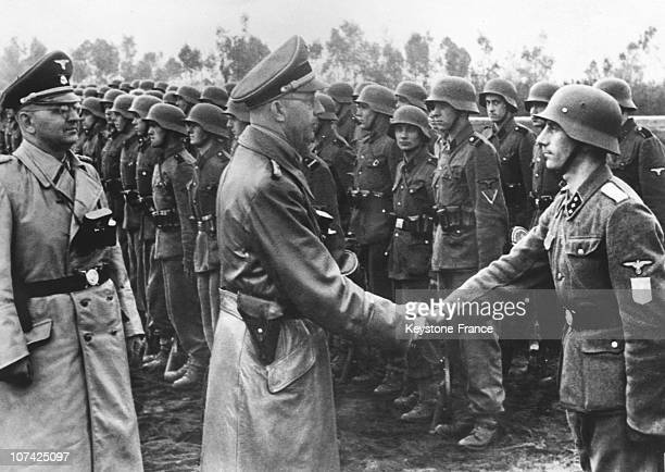 District Galicia Ss Troops Review By Himmler And Dr Wachter In Germany On June 3Rd 1944