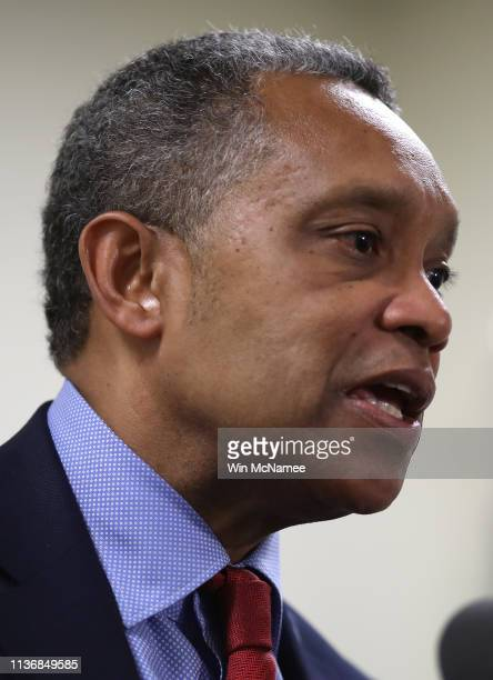 District of Columbia Attorney General Karl Racine answers questions after a case before the United States Court of Appeals for the Fourth Circuit...