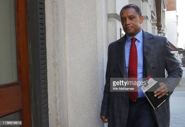 District of Columbia Attorney General Karl Racine arrives at the United States Court of Appeals for the Fourth Circuit March 19 2019 in Richmond...
