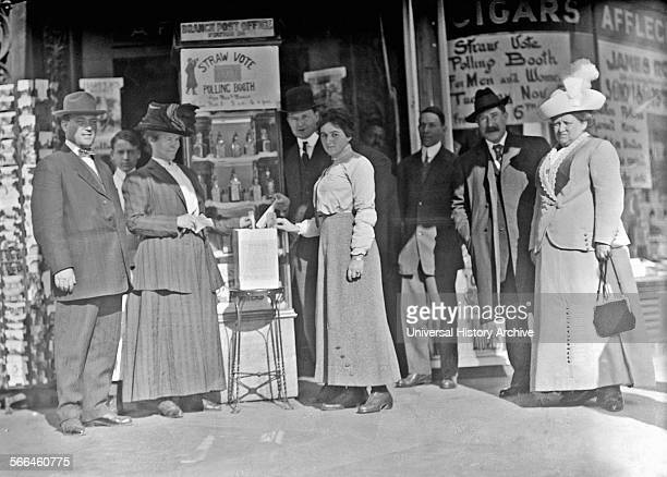 District of Columbia USA Women voting for the first time in 1920