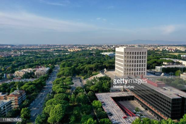 eur district - eur rome stock pictures, royalty-free photos & images