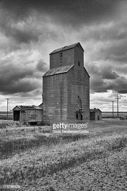 Disused grain elevator, Montana, USA