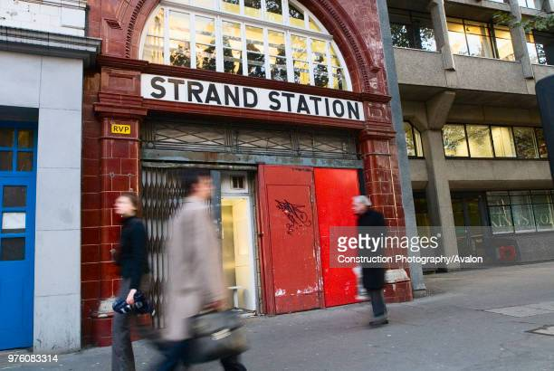 Disused Strand Station, Aldwych, London, UK.