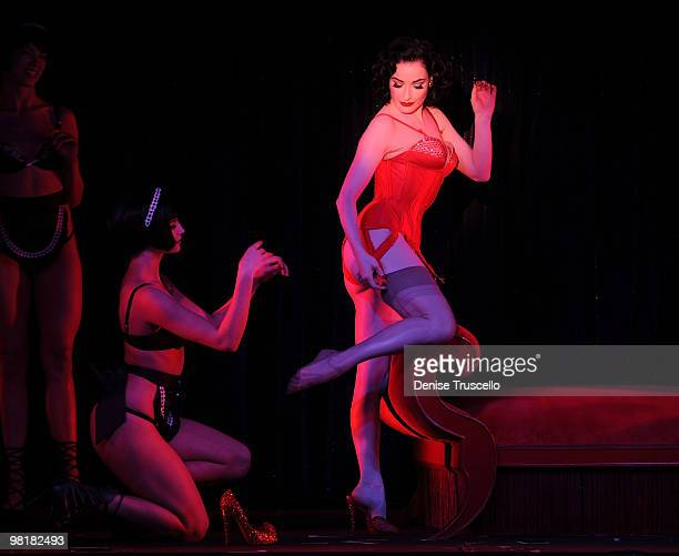 Dita Von Tease performs at Crazy Horse Paris at MGM Grand on March 31 2010 in Las Vegas Nevada