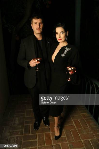Dita Von Teese and guest attend The American Meme special screening after party at the private residence of Jonas Tahlin CEO of Absolut Elyx on...