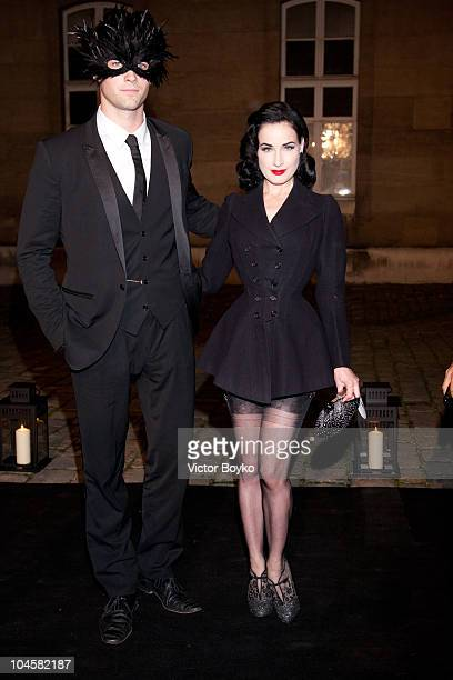 Dita von Teese and guest attend the Vogue 90th Anniversary Party as part of Ready to Wear Spring/Summer 2011 Paris Fashion Week at Hotel Pozzo di...