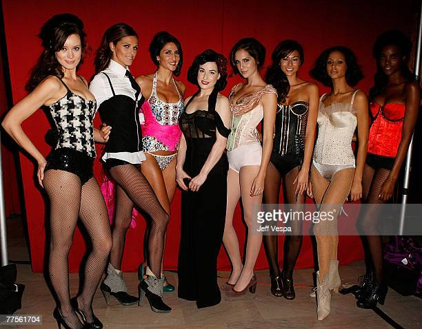 Dita Von Teese and Models at the Fredericks of Hollywood Auction to Benefit Clothes Off Our Backs at the Fredricks of Hollywood store on October 25...