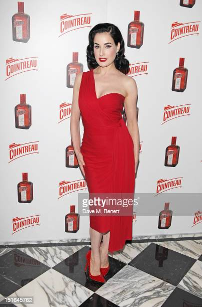 Dita Von Teese arrives ahead of her performance at The Arts Club on September 9 2012 in London England