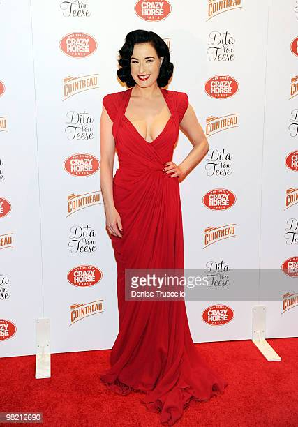 Dita Von Teese arrives at Crazy Horse Paris at MGM Grand on March 31 2010 in Las Vegas Nevada