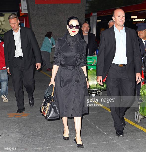 5999d8e6f20a Dita Von Teese arrives at Melbourne Airport on March 5 2012 in Melbourne  Australia