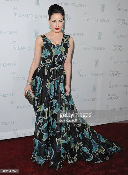 2ba72d73724d Dita Von Teese arrives at The Art Of Elysium 8th Annual Heaven Gala at  Hangar 8. Celebrity Sightings In Los Angeles - July 07