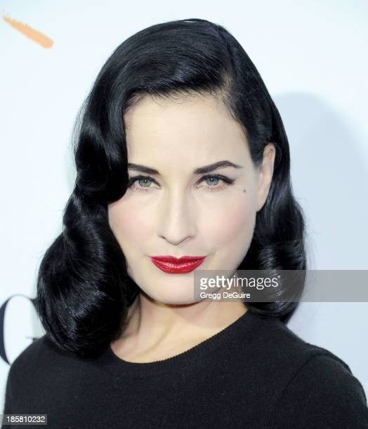 Dita Von Teese arrives at the Dream For Future Africa Foundation Gala at Spago on October 24, 2013 in Beverly Hills, California.