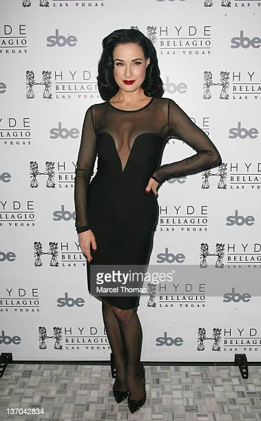 Dita Von Teese arrives for a performance at Hyde Bellagio on January 14 2012 in Las Vegas Nevada