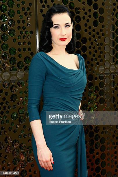e8b87dd58c14 Dita Von Teese arrives for the David Jones Show and launch of L Oreal  Melbourne
