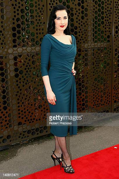 fd1867ce1293 Dita Von Teese arrives for the David Jones Show and launch of L Oreal  Melbourne