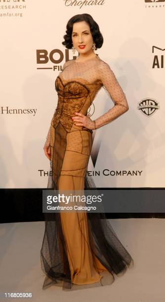 Dita Von Teese at amfAR's Cinema Against AIDS event, presented by Bold Films, the M*A*C AIDS Fund and The Weinstein Company to benefit amfAR