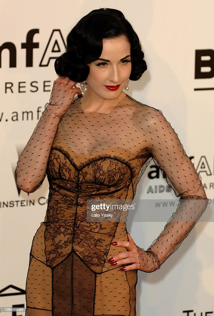 Dita Von Teese at amfAR's Cinema Against AIDS event, presented by Bold Films, the M•A•C AIDS Fund and The Weinstein Company to benefit amfAR