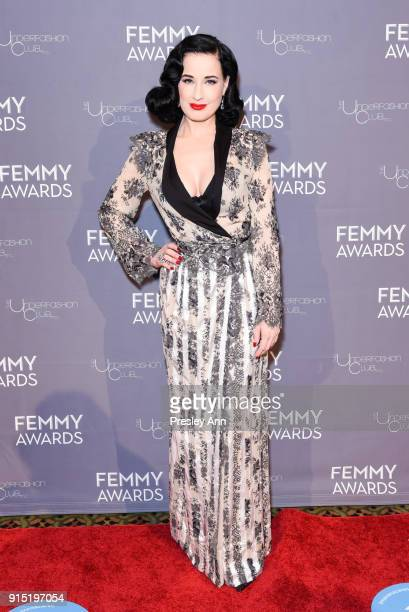 Dita Von Teese attends 2018 Femmy Awards hosted by Dita Von Teese on February 6 2018 in New York City