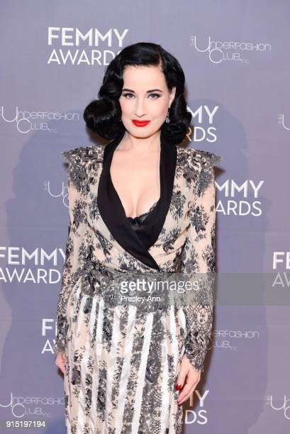 Dita Von Teese attends 2018 Femmy Awards hosted by Dita Von Teese on February 6, 2018 in New York City.
