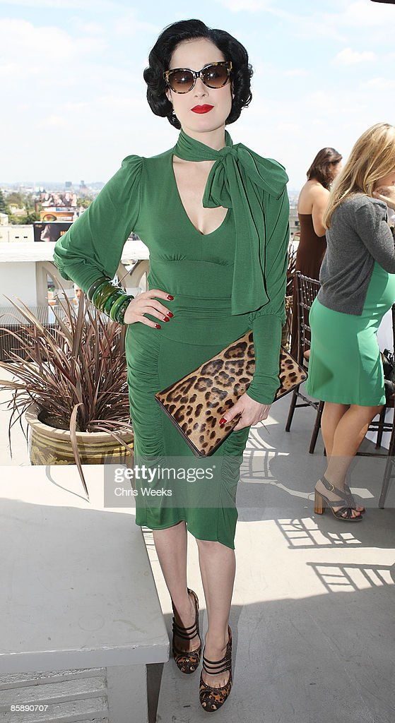 Dita Von Teese attends a luncheon for fashion designer Rachel Pally at the Chateau Marmont on April 9, 2009 in West Hollywood, California.