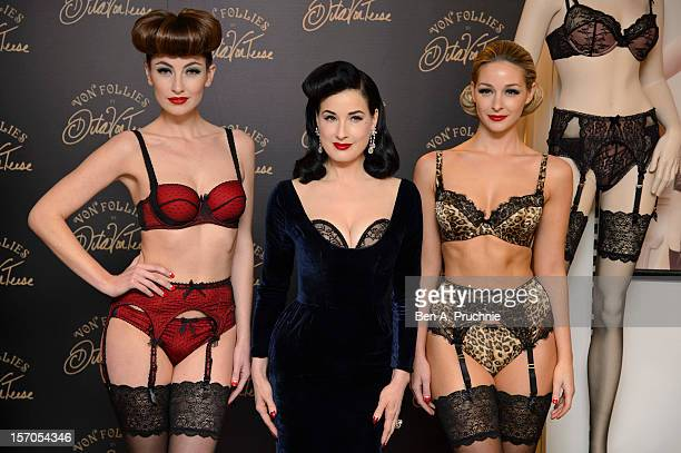 Dita Von Teese attends a photocall to launch her new lingerie range at Debenhams on November 28 2012 in London England
