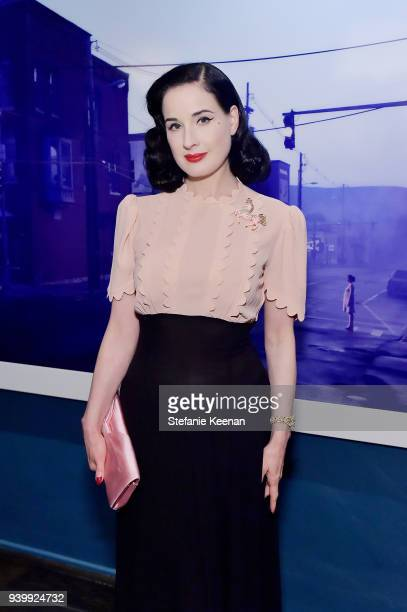 Dita Von Teese attends a private dinner to celebrate the One Year Anniversary of Beboe hosted by Lake Bell Lisa Eisner Assia Grazioli and David...