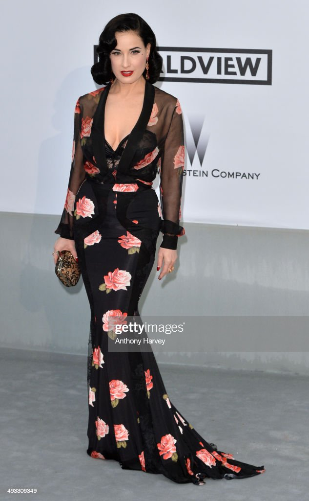 Dita Von Teese attends amfAR's 21st Cinema Against AIDS Gala, Presented By WORLDVIEW, BOLD FILMS, And BVLGARI at the 67th Annual Cannes Film Festival on May 22, 2014 in Cap d'Antibes, France.