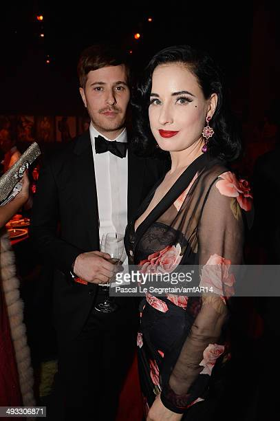 Dita von Teese attends amfAR's 21st Cinema Against AIDS Gala Presented By WORLDVIEW BOLD FILMS And BVLGARI at Hotel du CapEdenRoc on May 22 2014 in...
