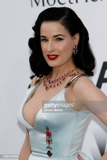 Dita Von Teese attends amfAR's 22nd Cinema Against Aids gala during the 68th Annual Cannes Filmfest at Hotel du CapEdenRoc in Cap d'Antibes France on...