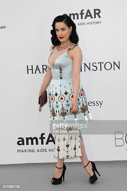 Dita Von Teese attends amfAR's 22nd Cinema Against AIDS Gala Presented By Bold Films And Harry Winston at Hotel du CapEdenRoc on May 21 2015 in Cap...