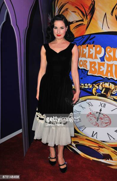 Dita Von Teese attends Christian Louboutin and Sabyasachi Unveil Capsule Collection at Just One Eye on November 16 2017 in Los Angeles California