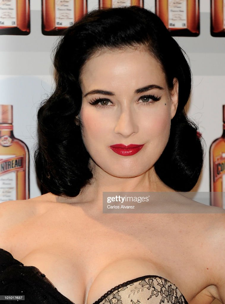 Dita Von Teese attends Cointreau photocall at the Me Hotel on May 27, 2010 in Madrid, Spain.