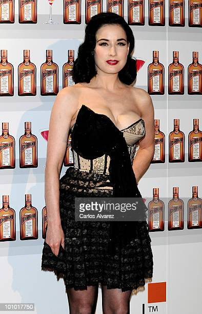 Dita Von Teese attends Cointreau photocall at the Me Hotel on May 27 2010 in Madrid Spain