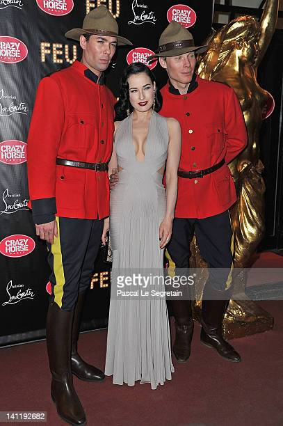 Dita von Teese attends 'Feu' Directed By Christian Louboutin VIP Premiere at Le Crazy Horse on March 12 2012 in Paris France