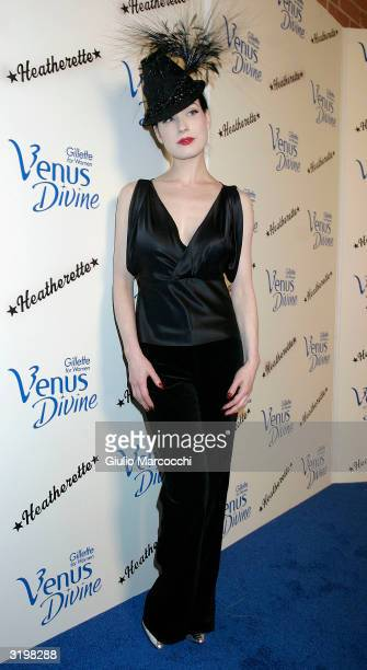 Dita Von Teese Attends Heatherette Holiday 2004 on April 1 2004 in Culver City California