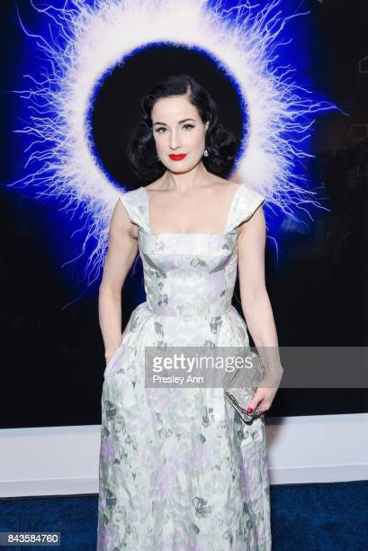 Dita Von Teese attends La Prairie Celebrates Art of Caviar Exhibition on September 6 2017 in New York City
