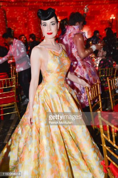 Dita Von Teese attends LOVE Ball III - Inside at Gotham Hall on June 25, 2019 in New York City.
