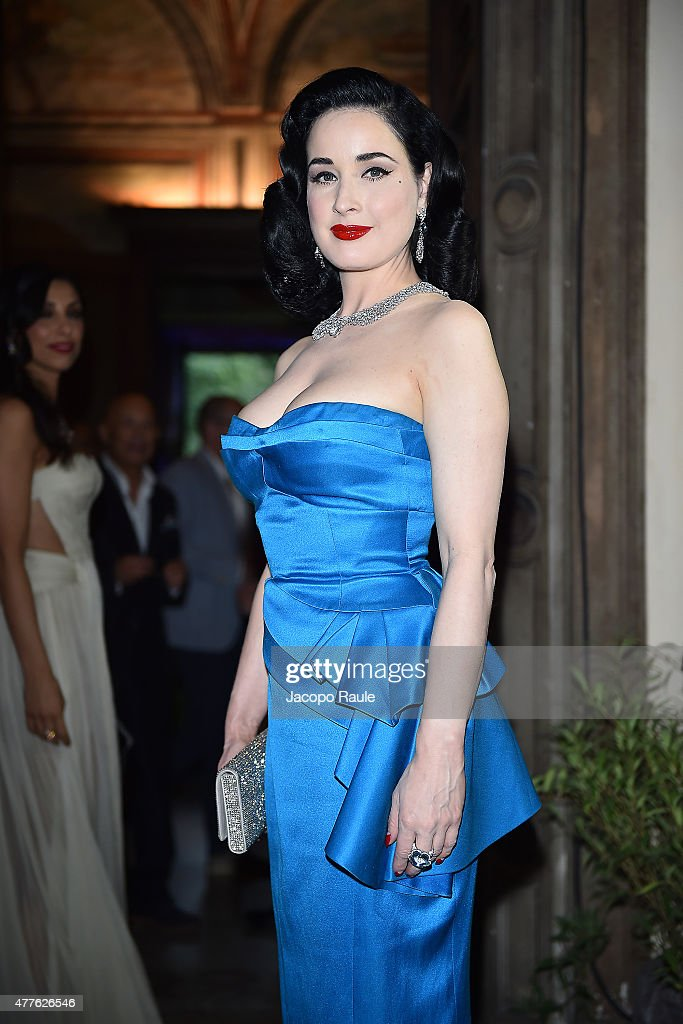Dita Von Teese attends Pasquale Bruni - Giardini Segreti Cocktail Party on June 18, 2015 in Milan, Italy.