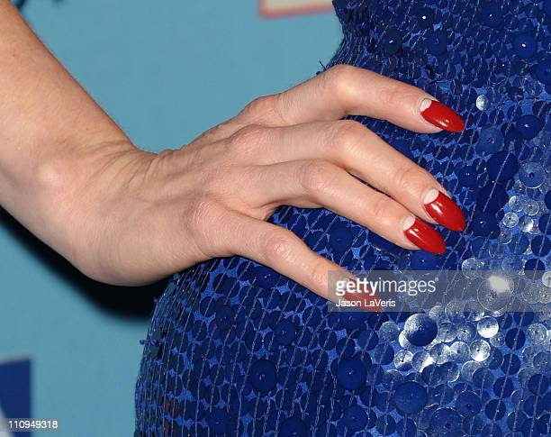 Dita Von Teese attends Perez Hilton's 'Blue Ball' birthday celebration on March 26 2011 in Hollywood California